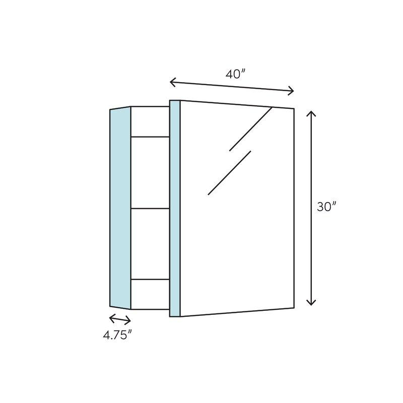 Peachy Verdera 40 X 30 Aluminum Medicine Cabinet Download Free Architecture Designs Sospemadebymaigaardcom