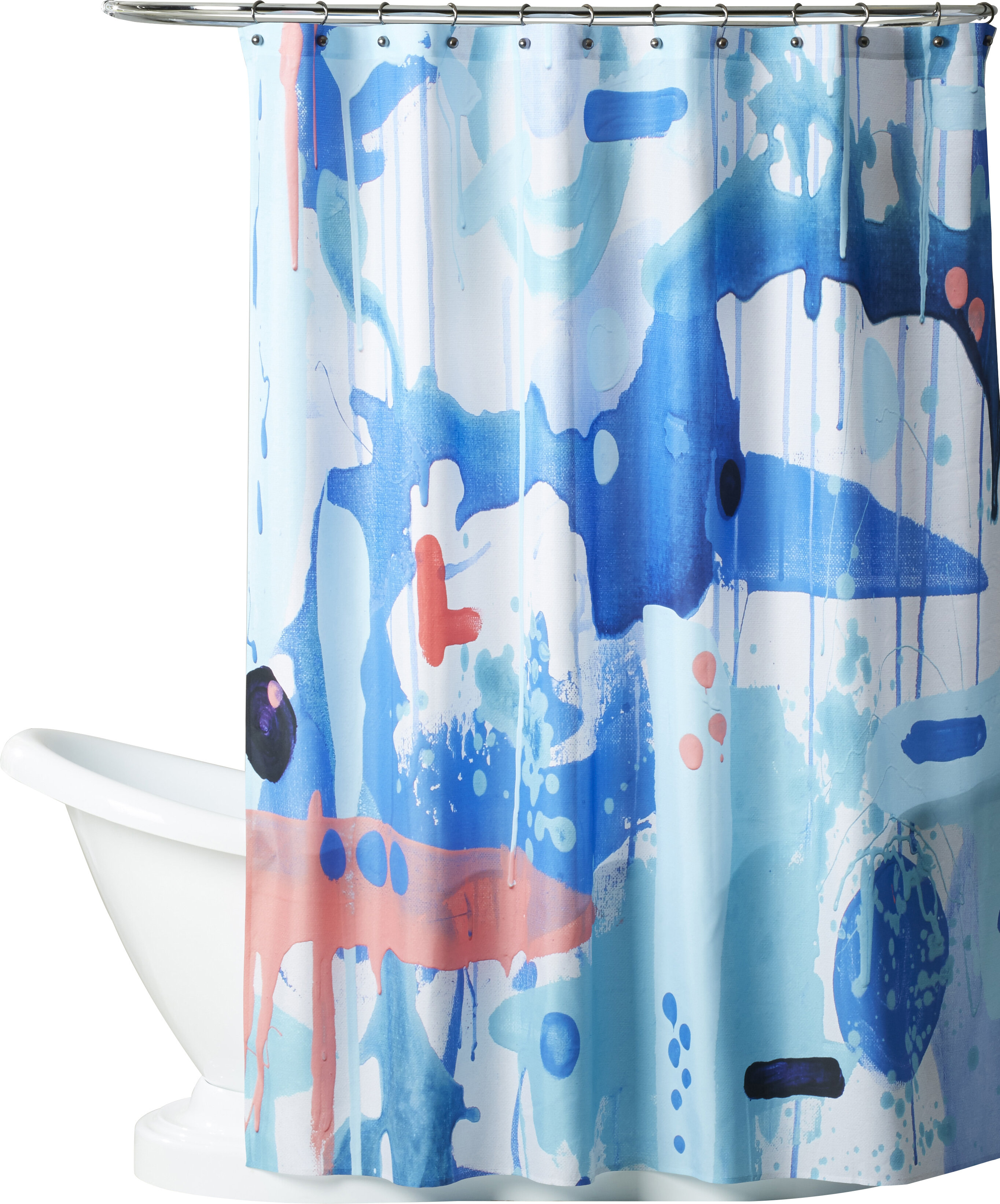 Deb McNaughton Abstract Drips Shower Curtain   AllModern