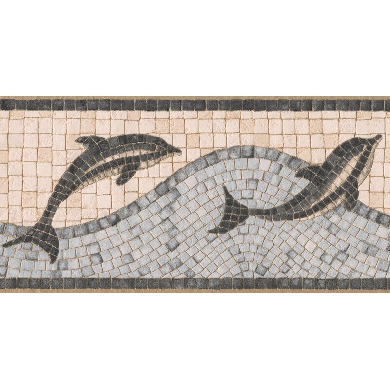 Storyvale Bathroom Dolphins Mosaic 5' L x 180