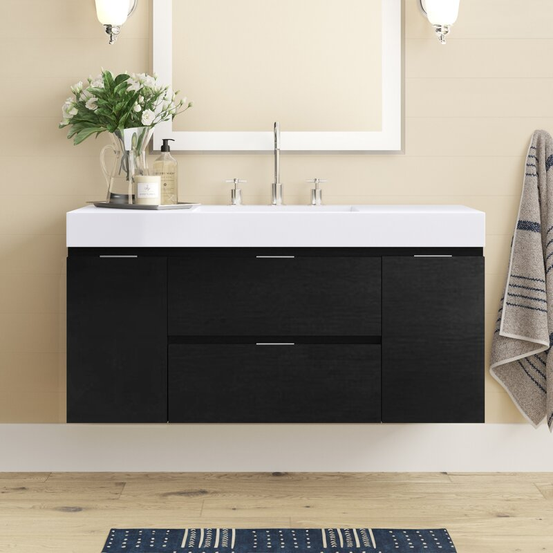 Tenafly 47 Wall Mounted Single Bathroom Vanity Set Reviews Joss Main