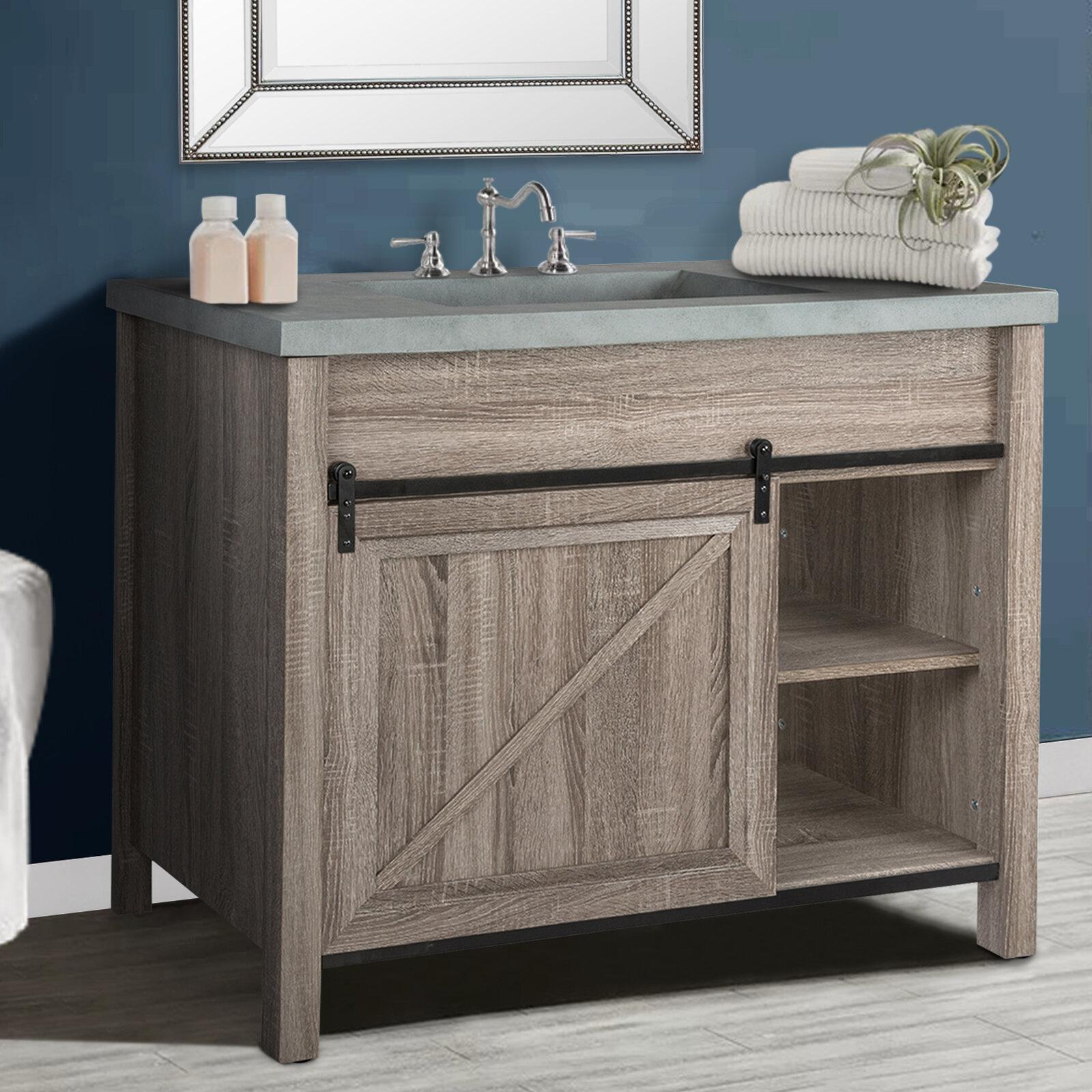 Gracie Oaks Ayan 42 Single Bathroom Vanity Set Reviews Wayfair