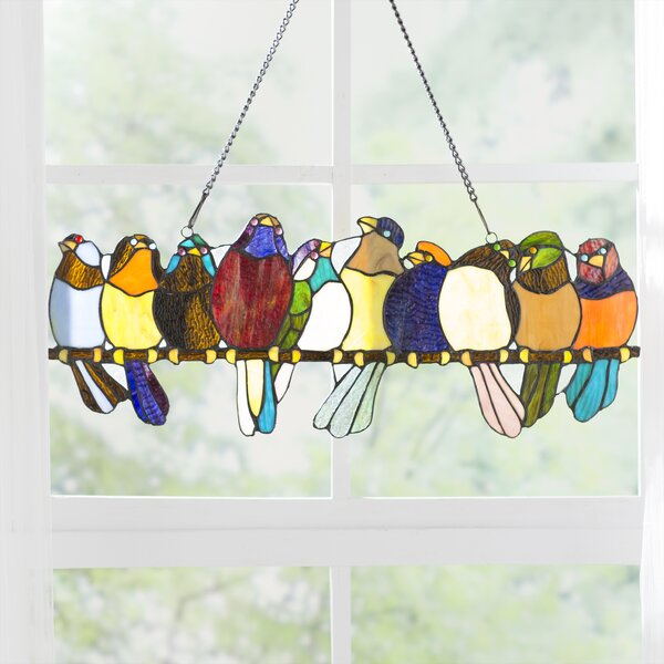 Stained Glass Bird Panels Wayfair Ca