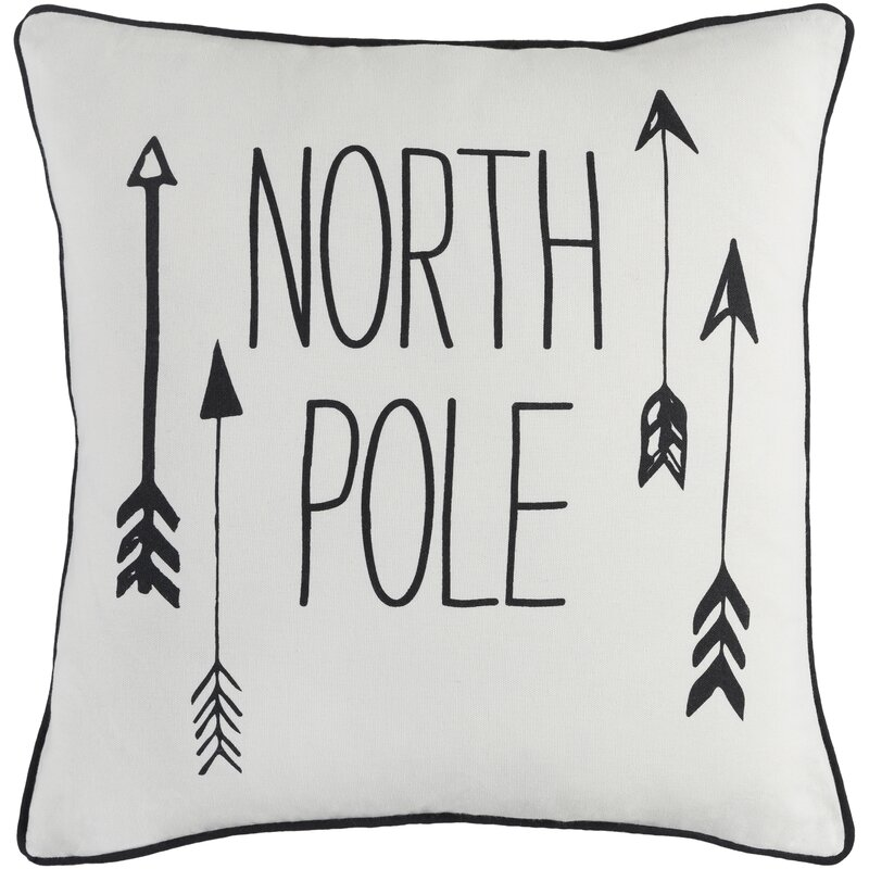 Holiday North Pole Cotton Throw Pillow Cover
