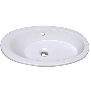 Find for Infinity Vitreous China Oval Drop-In Bathroom Sink with Overflow By Barclay