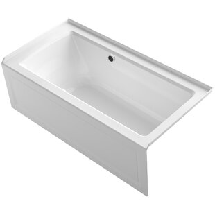 Archer Alcove BubbleMassage? Air Bath with Integral Apron, Right-Hand Drain and Bask Heated Surface