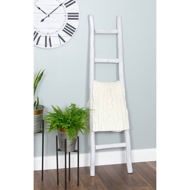Hang your Crochet Blankets on a Blanket Ladder to Keep Them Organized