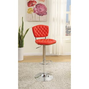 Bobkona Lyssa Adjustable Height Bar Stool (Set of 2)
