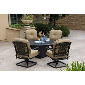 Longshore Tides Yorba 5 Piece Sunbrella Multiple Chairs Seating Group Wayfair