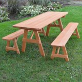 Seward Solid Wood Picnic Table Set