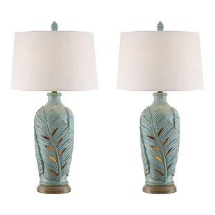 Deals Lars Leaf 34 Table Lamp (Set of 2) By Highland Dunes