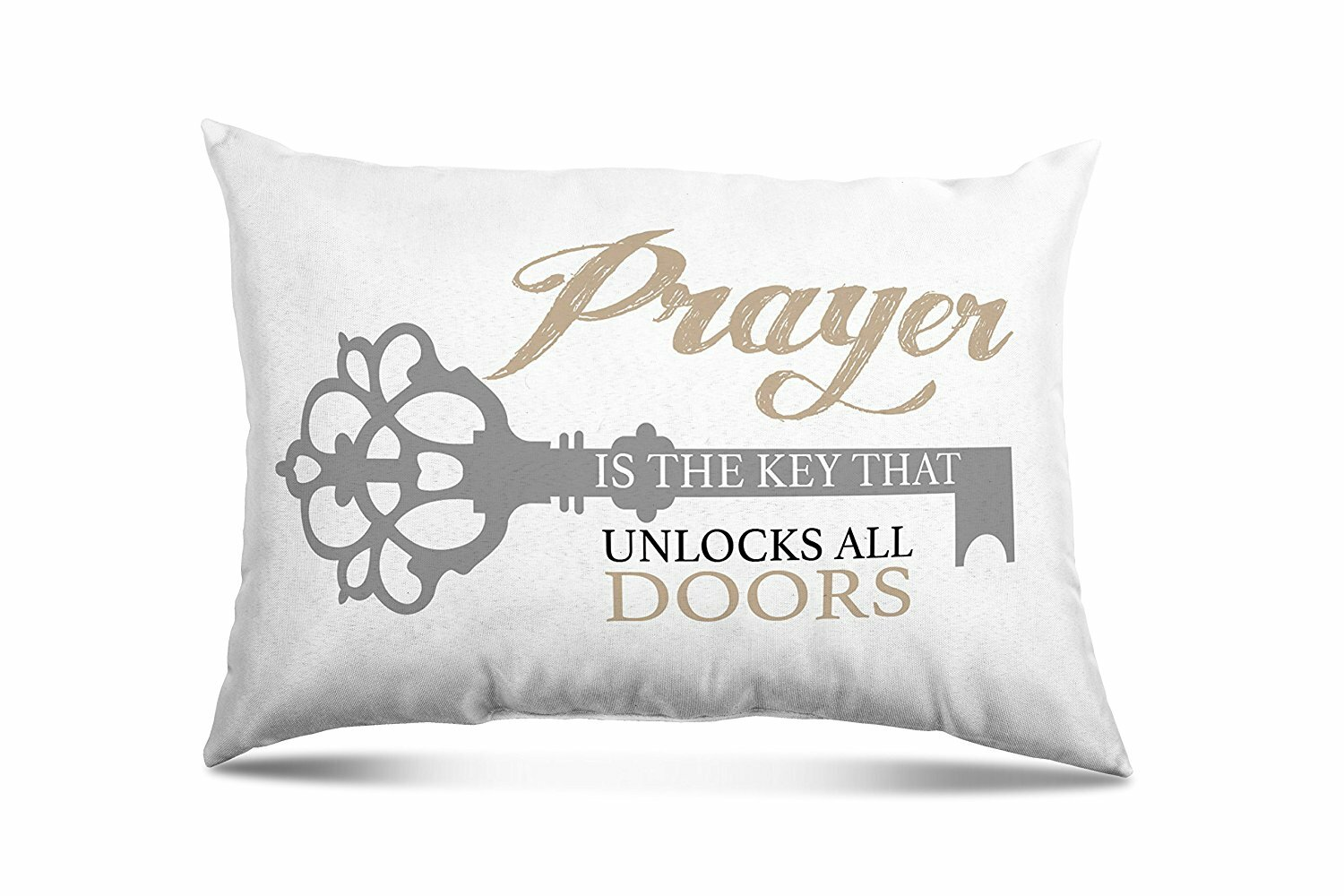 Winston Porter Ovalle Prayer Unlock Eco Friendly Religious Quotes And Sayings Lumbar Pillow Wayfair