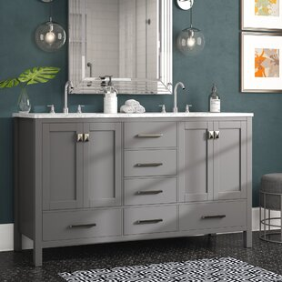 Pichardo 60 inch  Double Bathroom Vanity Set