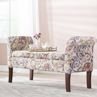 Keziah Floral Upholstered Storage Bench