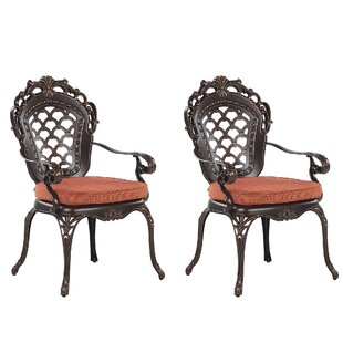 Fraley Stacking Garden Chair With Cushion (Set Of 2) Image