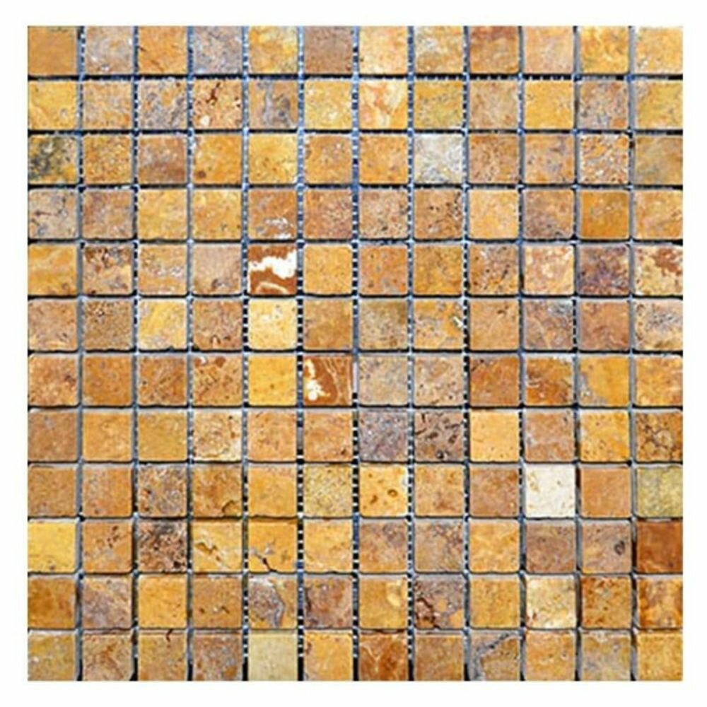 Tile Mosaic Depot 1 X 1 Travertine Grid Mosaic Wall Floor Tile Wayfair