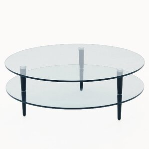 Saturn Coffee Table with Wooden Legs by Focus One Home