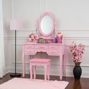 Vern Vanity Set with Mirror by House of Hampton