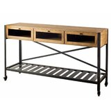 Emelina Kitchen Cart with Solid Wood Top by Gracie Oaks
