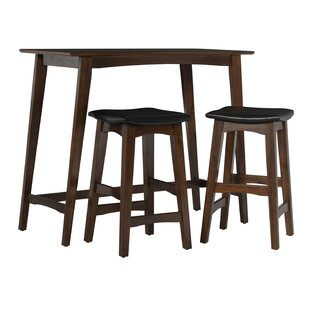 Lonon 3 Piece Dining Set by Wrought Studio Great Reviews