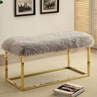 Kelley Fuzzy Metal Bench by Mercer41