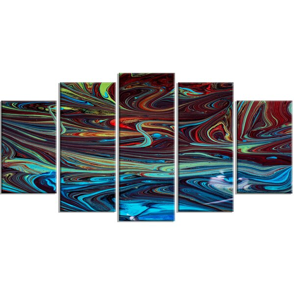 Turquoise Abstract Wall Art Wayfair