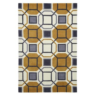 Agnon Hand Tufted Ivory/Yellow Rug by Langley Street