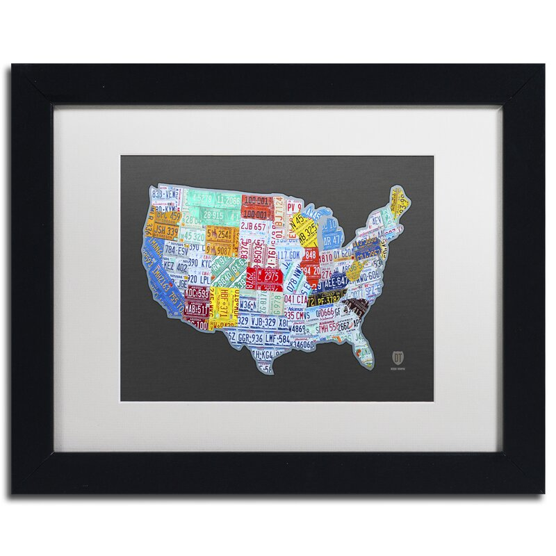 Mive USA License Plate Map by Design Turnpike Framed Graphic Art  License Plate Map Usa on license plate world map, map usa map, color usa map, leapfrog interactive united states map, flag usa map, basketball usa map, baseball usa map, paint usa map, golf usa map, motorcycle usa map, driving usa map, decals usa map, watercolor usa map, art usa map, reverse usa map, list 50 states and capitals map, state usa map, time usa map, license plate map art, license plates for each state,