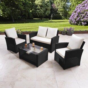Dalia 4 Seater Rattan Sofa Set By Zipcode Design