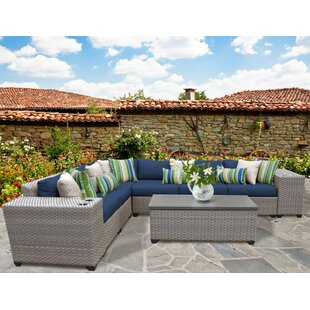 Meeks 9 Piece Sectional Seating Group with Cushions by Rosecliff Heights