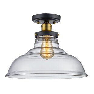 Skyler 1-Light Semi Flush Mount by Williston Forge