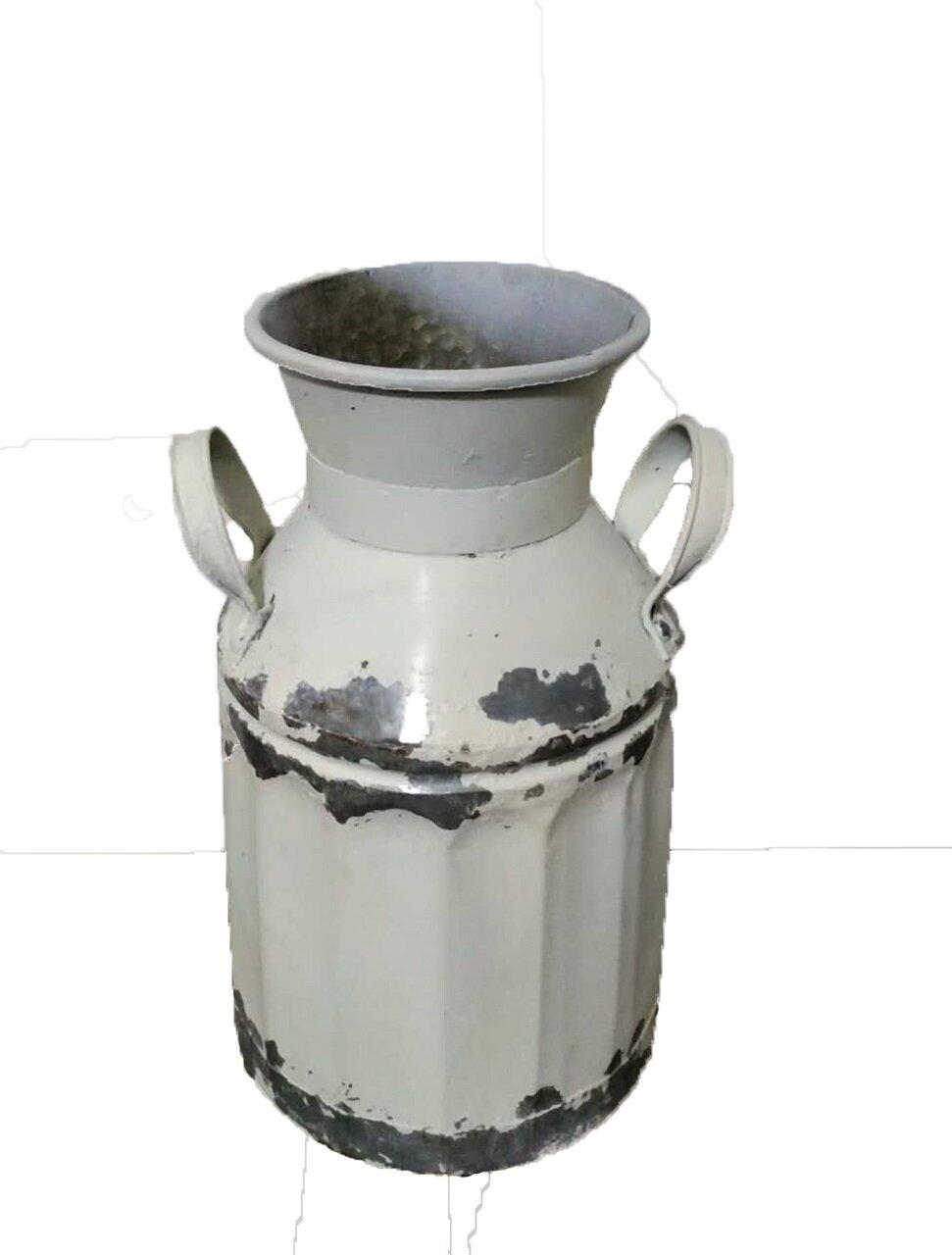 Gracie Oaks Malchow Galvanized Farmhouse Milk Can Table Vase Reviews
