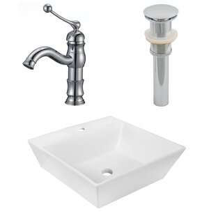 Review Ceramic Square Vessel Bathroom Sink with Faucet by Royal Purple Bath Kitchen