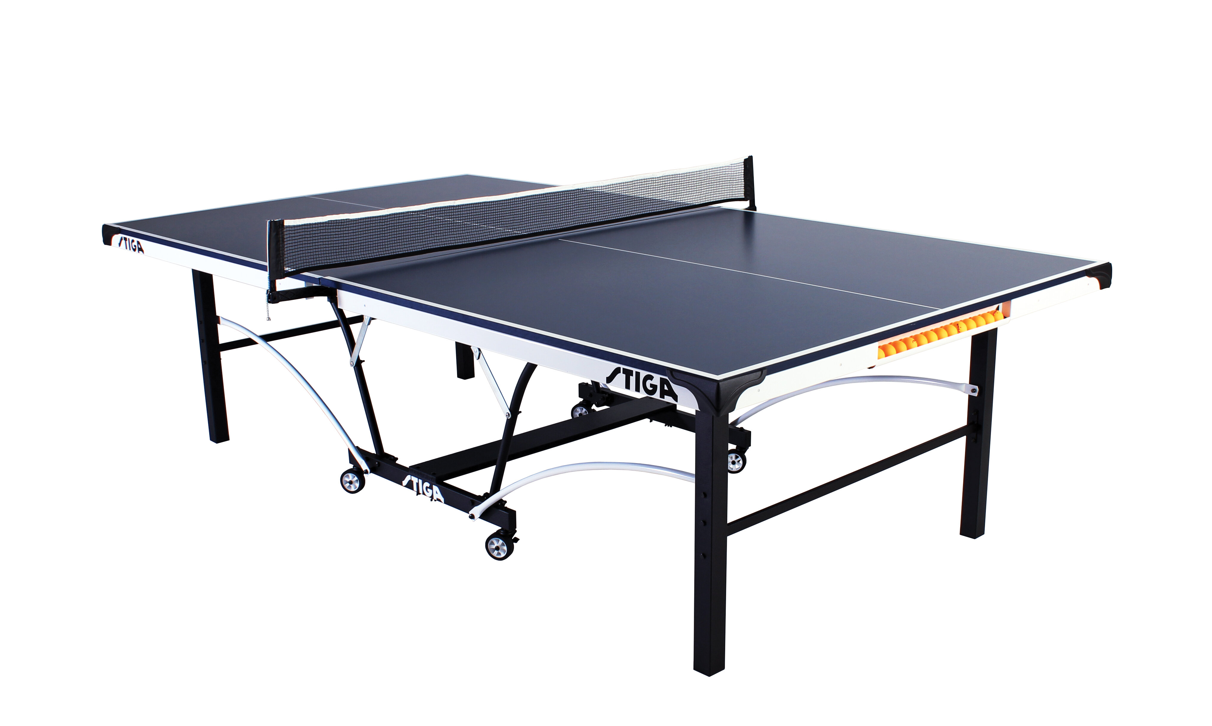 Stiga 185 Regulation Size Foldable Indoor Table Tennis Table 19mm Thick Reviews Wayfair
