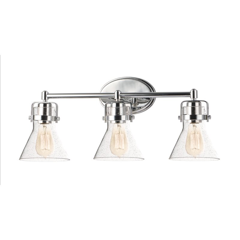 Williston Forge Fricke 3 Light Dimmable Polished Chrome Vanity Light Reviews Wayfair