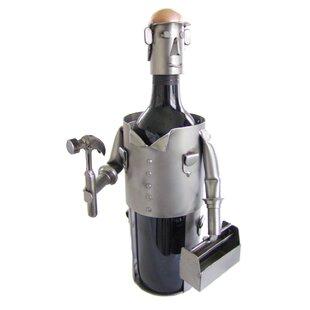 Carpenter 1 Bottle Tabletop Wine Rack by H & K SCULPTURES