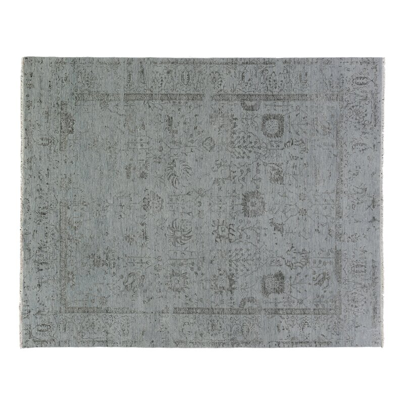 Exquisite Rugs Lexington Hand Knotted Gray Black Area Rug Wayfair