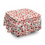 Vegetarian Life Tomatoes Ottoman Slipcover (Set of 2) by East Urban Home