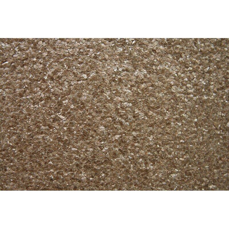 """17 Stories Gerald Mica 24 L x 36"""" W Wallpaper Roll  Color: Metallic Copper"""
