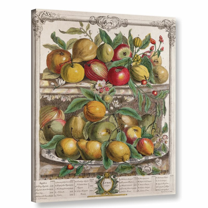 April from Twelve Months of Fruit - Wrapped Canvas Print