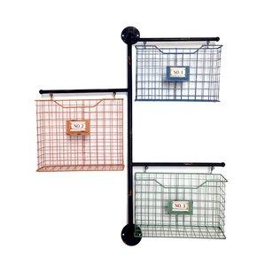Metal Wall File wire basket wall organizer   wayfair