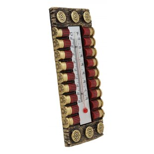 Ebros Western 12 Gauge Shotgun Shell Ammo Bullet Magazine Indoor Wall Thermometer By Ebros Gift