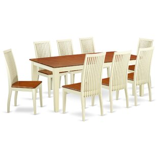 Pilger 9 Piece Solid Wood Dining Set August Grove
