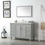 Dulvert 48 Single Bathroom Vanity Set with Mirror by Highland Dunes