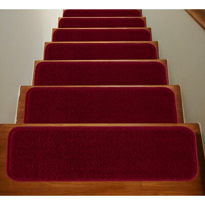 Non Slip Backing Red Stair Tread Rugs You Ll Love In 2020