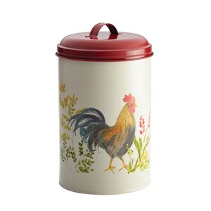 Pantryware Garden Rooster Food Storage 3 Piece Kitchen Canister Jar