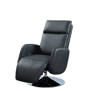 Maysville Leather Power Recliner by Latitude Run