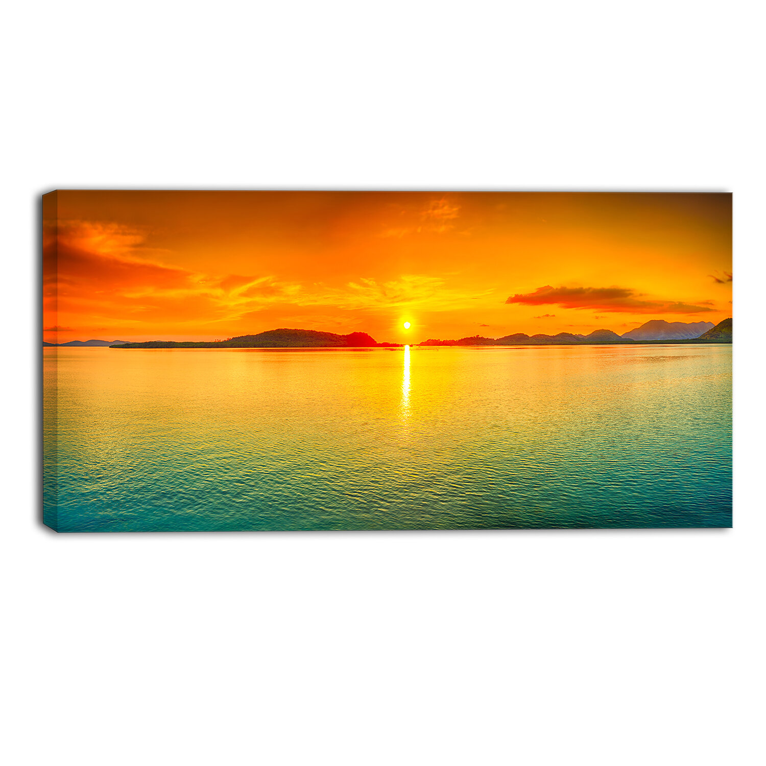 Designart Sunset Panorama Photographic Print On Wrapped Canvas Wayfair
