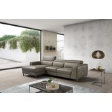 Quinton 115.6 Wide Genuine Leather Reclining Sofa & Chaise by Orren Ellis