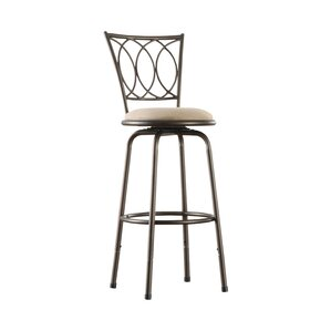 Frankfort Adjustable Height Swivel Bar Stool (Set of 3) by Three Posts