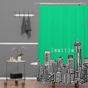 Bird Ave Seattle Single Shower Curtain